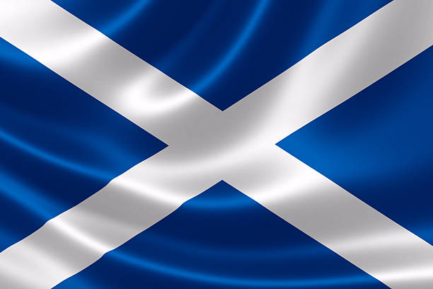 Scotland's Flag stock photo