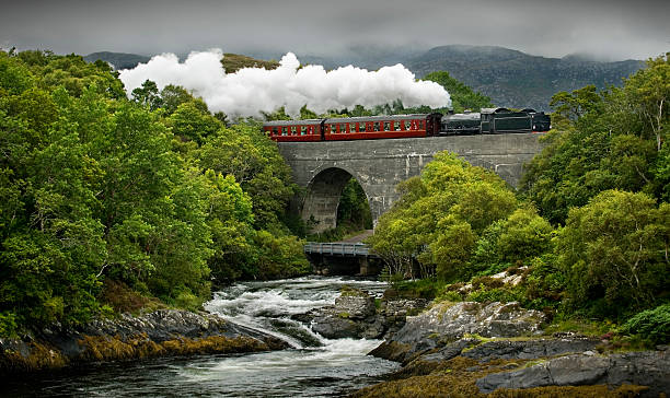 Scotland's steam train and landscape  railway bridge stock pictures, royalty-free photos & images