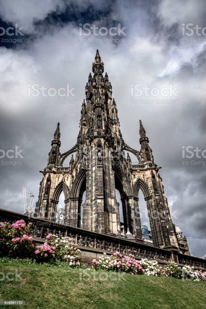Scott Monument Edinburgh stock photo