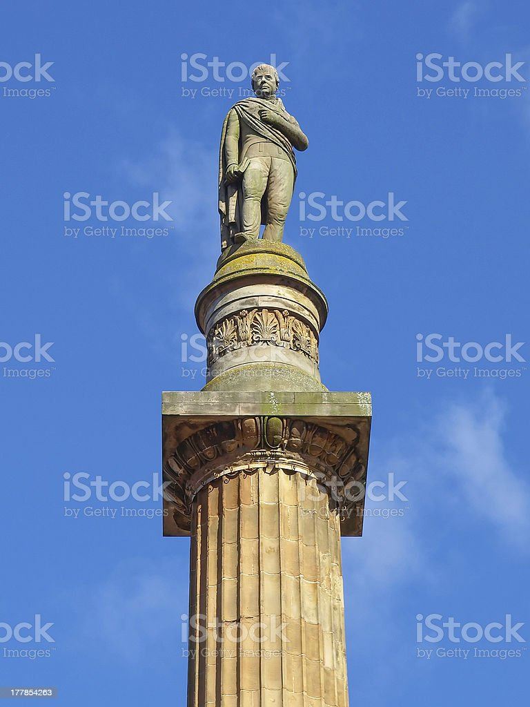 Scott monument, Glasgow stock photo