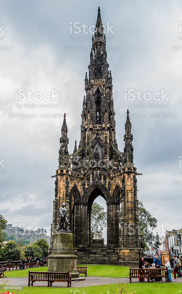 Scott Monument in Edinburgh, Scotland stock photo