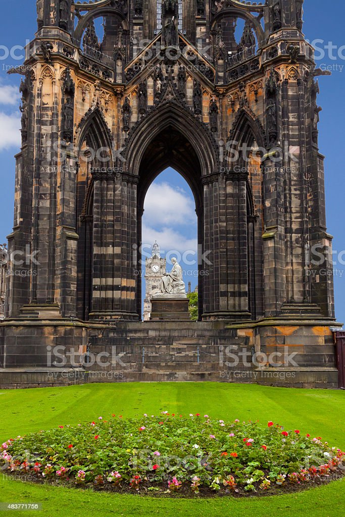 Scott Monument in Edinburgh, Scotland, United Kingdom. stock photo
