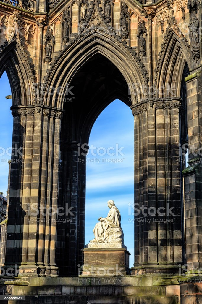 Scott Monument,  Princes Street Gardens, Edinburgh stock photo