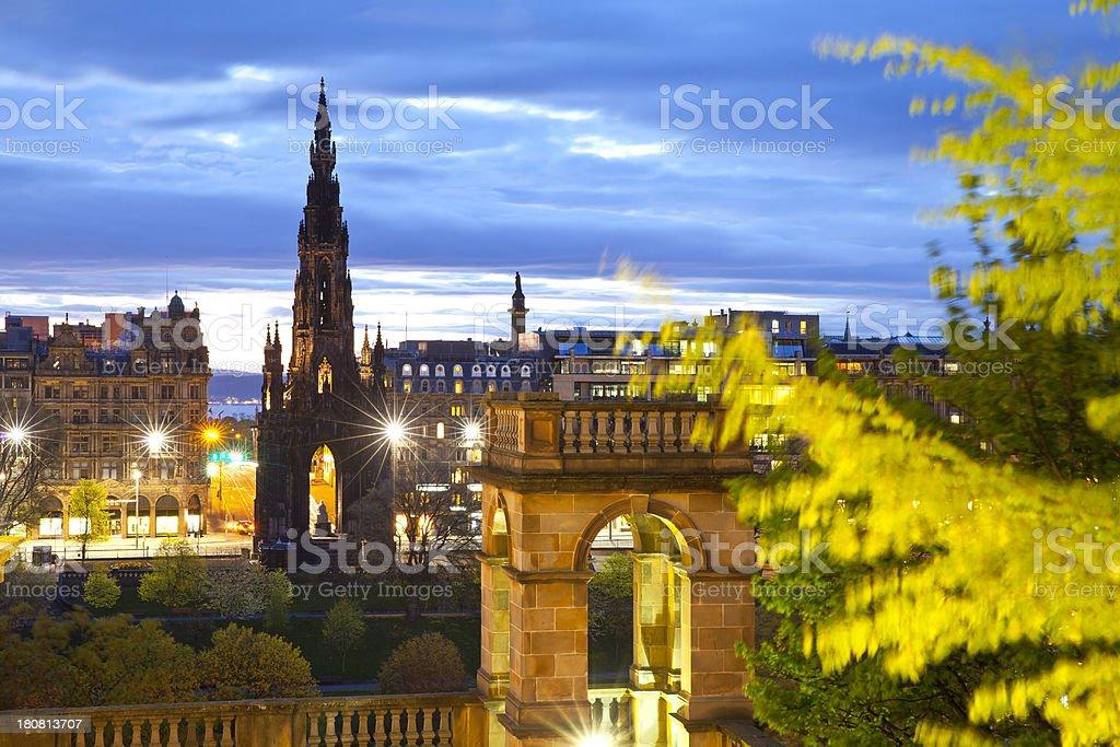 Scott Monument, Scotland, Edinburgh stock photo