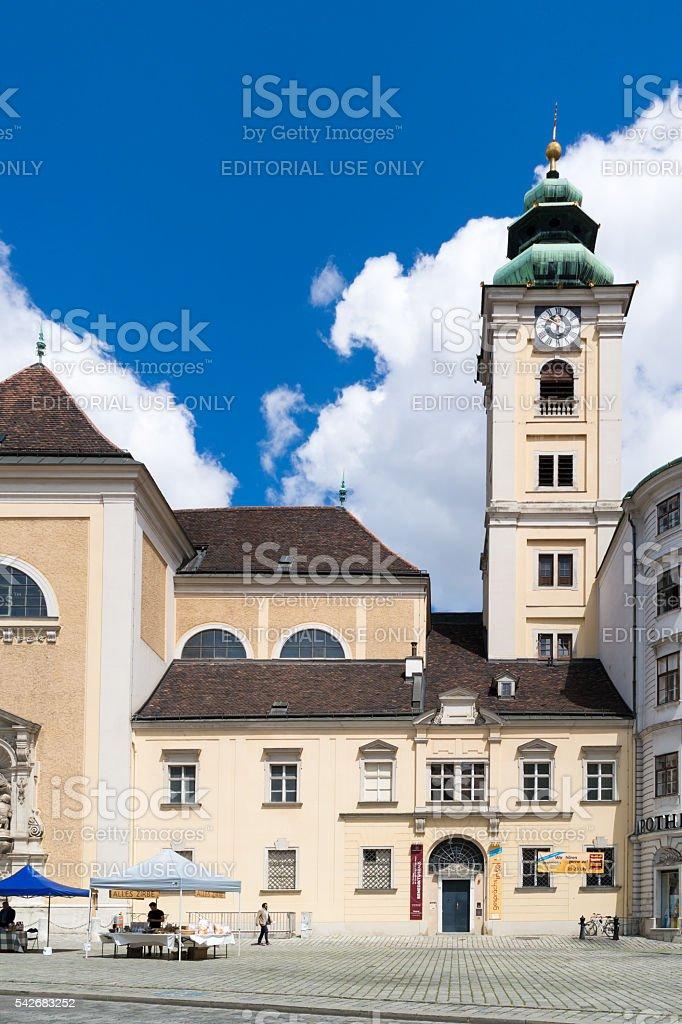 Scottish Abbey on Freyung square, Vienna, Austria stock photo