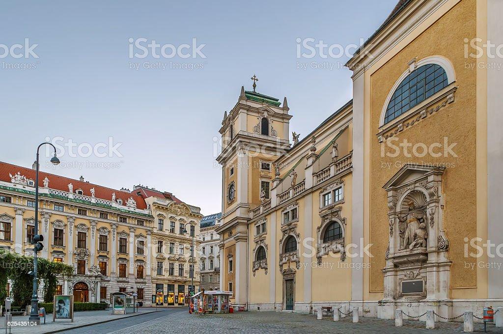 Scottish Abbey, Vienna stock photo