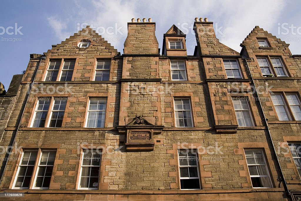 Scottish architecture. royalty-free stock photo