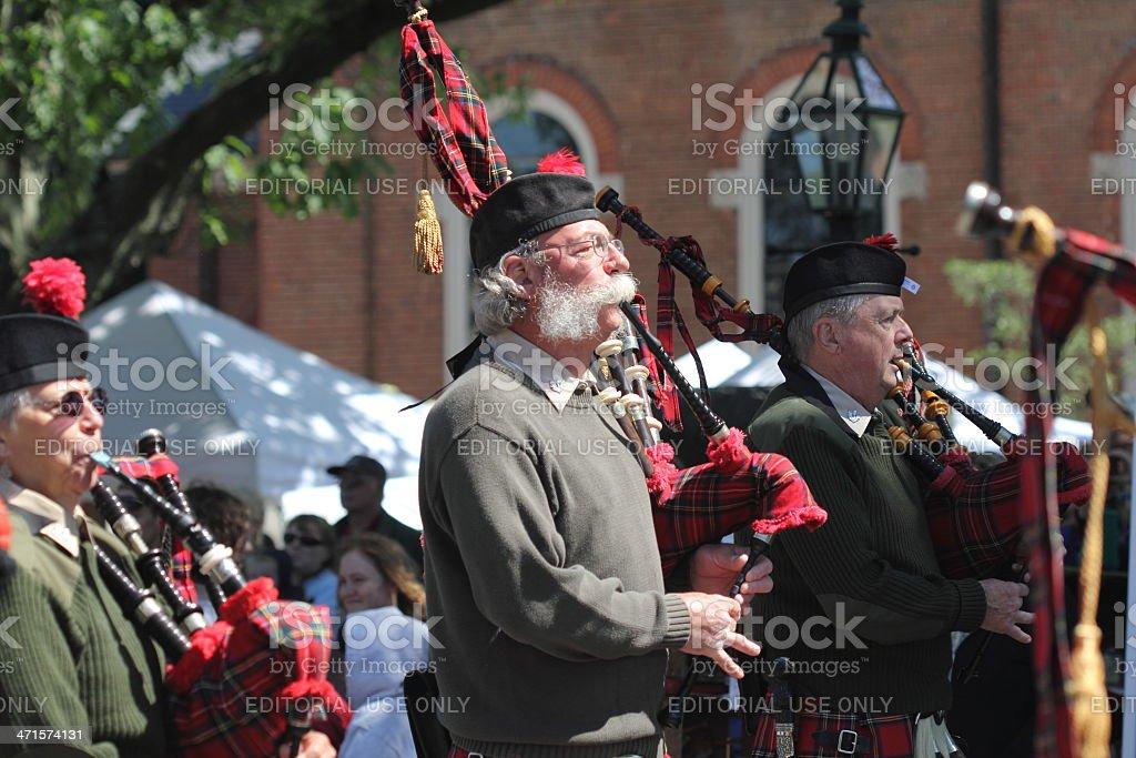 Scottish Bag Piper stock photo