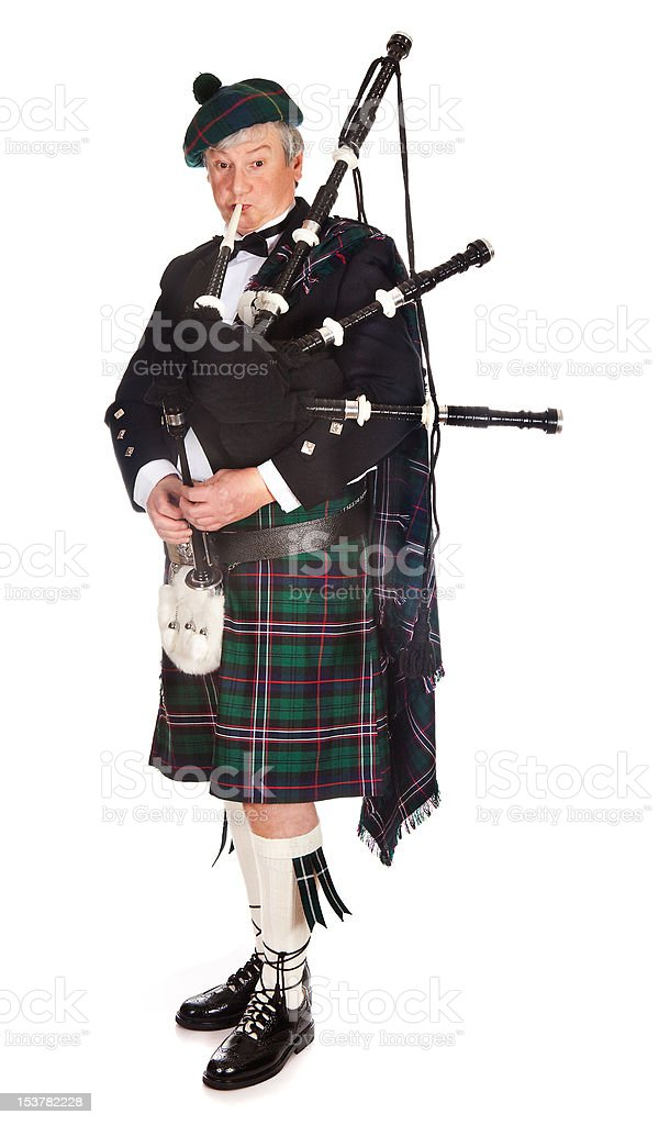 Scottish bagpipes stock photo