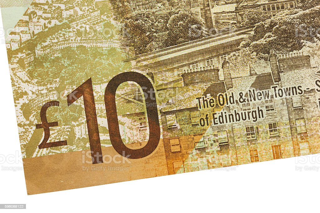 Scottish Banknote, 10 pounds royalty-free stock photo