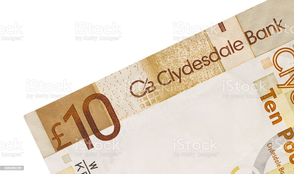 Scottish Banknote, 10 pounds royalty-free stock photo