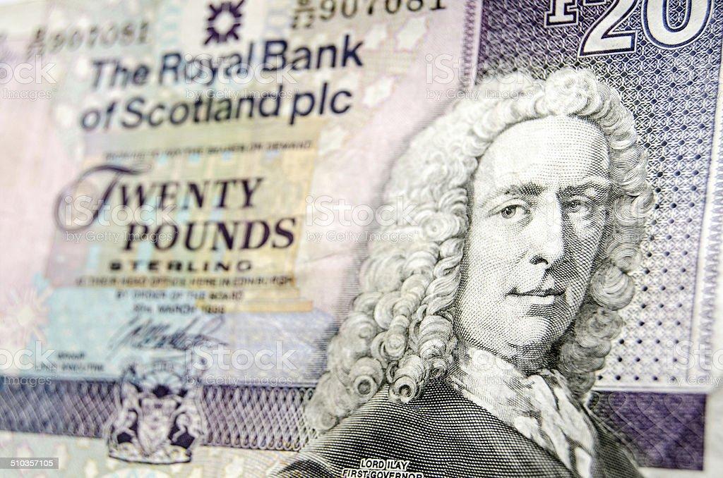 Scottish Banknote detail stock photo