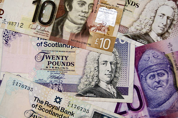 Scottish Banknotes stock photo