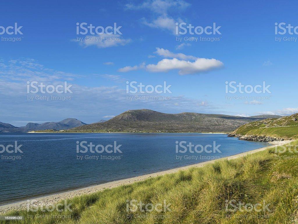 Scottish Beach in Summer stock photo