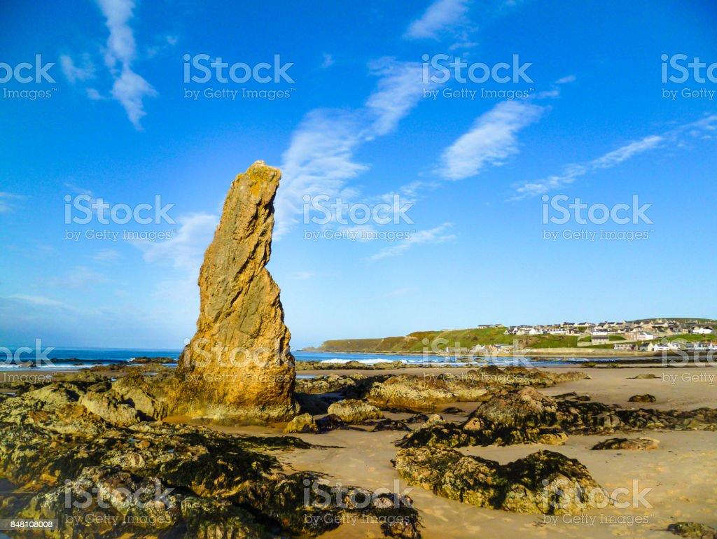 Scottish beach on the cold northern sea stock photo
