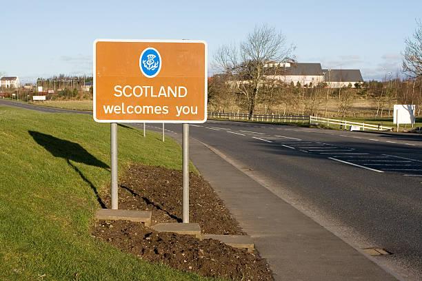Scottish Border stock photo