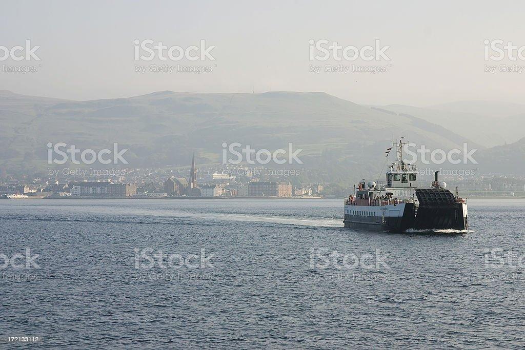 Scottish car ferry stock photo