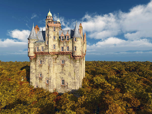 scottish castle - castle stock photos and pictures