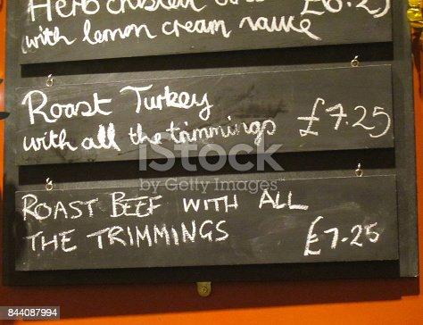 istock Scottish chalkboard menu 844087994