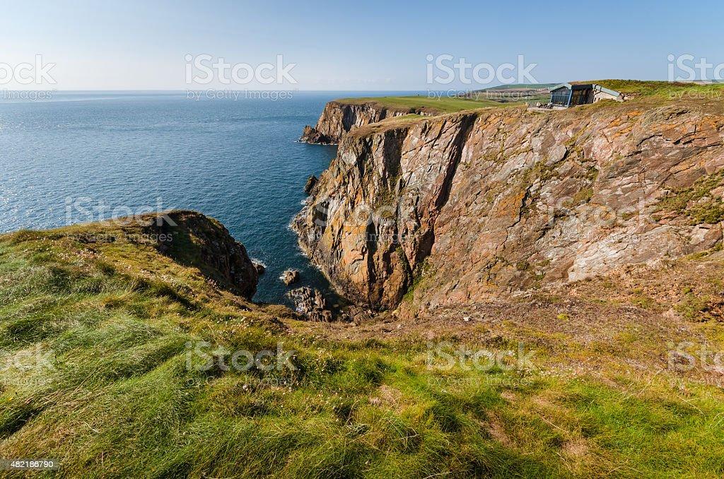 Scottish cliffs stock photo