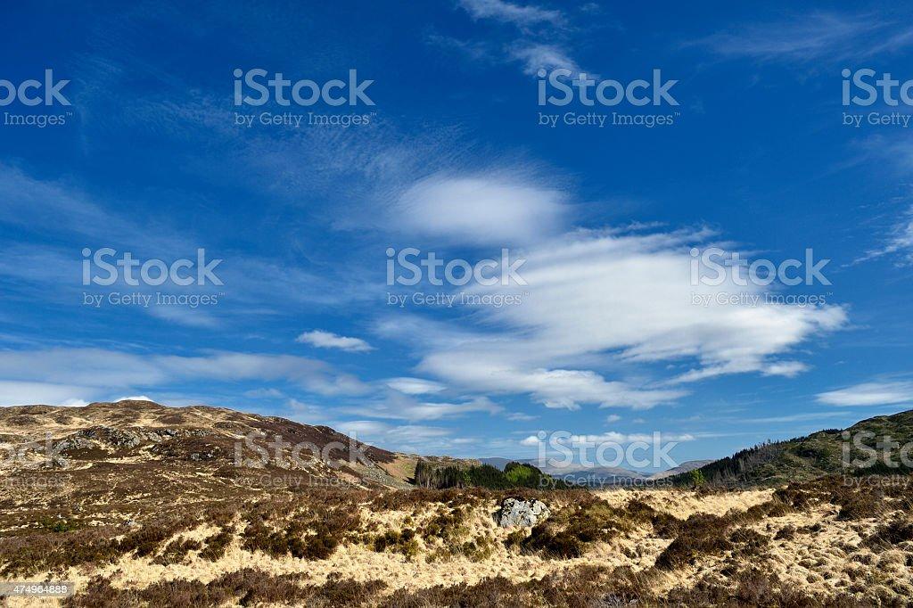 Scottish countryside in remote location stock photo