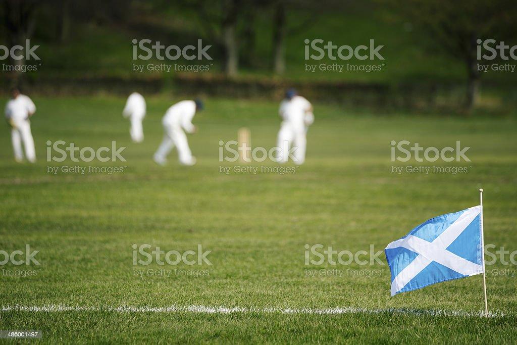 Scottish Cricket stock photo