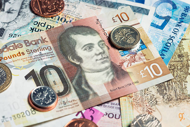 schottische währung - schottische kultur stock-fotos und bilder