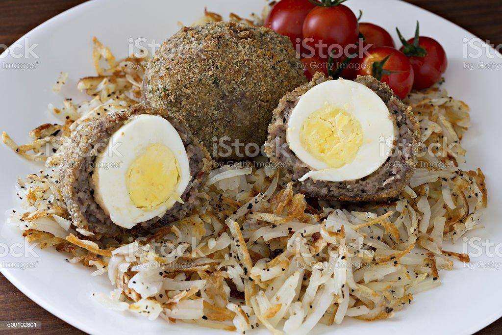 Scottish Eggs stock photo