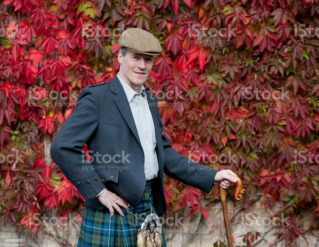 Scottish farmer stock photo