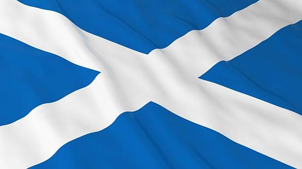 Scottish Flag HD Background - Flag of Scotland 3D Illustration stock photo
