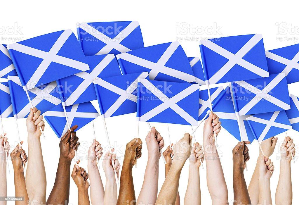 Scottish Flag stock photo