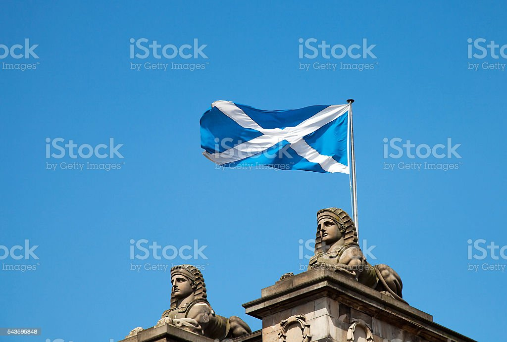 Scottish flag stock photo