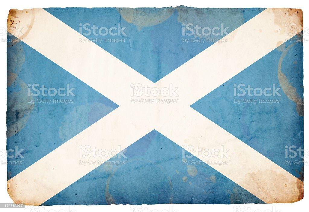 Scottish Flag XXXL royalty-free stock photo