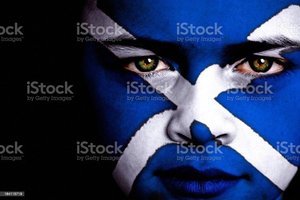 Scottish football fan stock photo