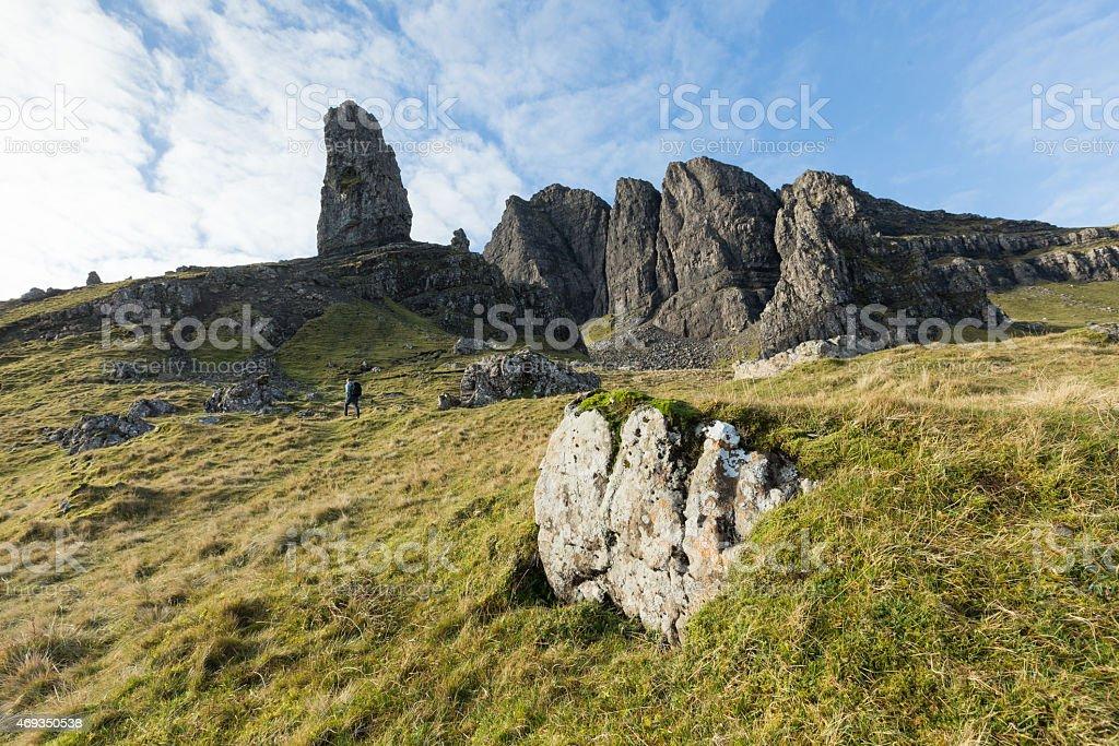 Scottish highland landscape stock photo