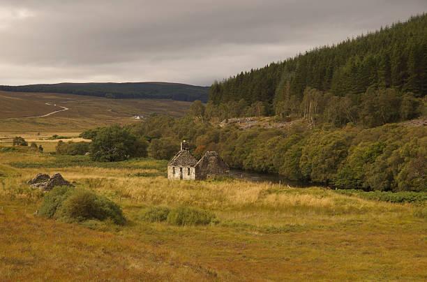 Scottish highland stock photo