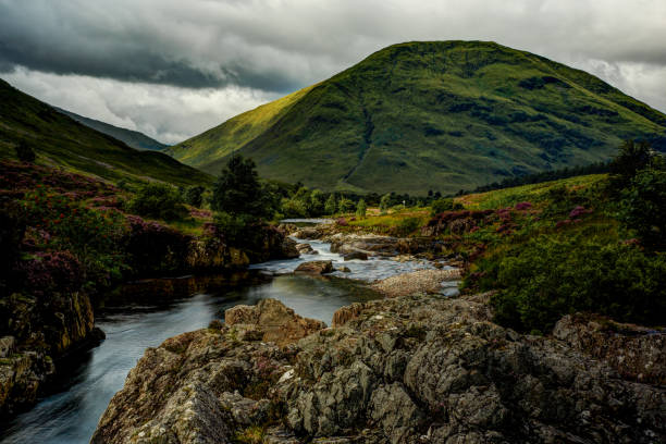 Scottish Highlands In spite of the inclement weather, the trip through the Highlands is amazing. And for photographers, we learn how to quickly catch every light opportunity as there are not many of them :-) inverness scotland stock pictures, royalty-free photos & images
