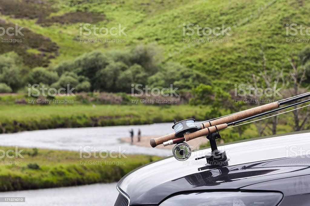 Scottish Highlands: Salmon fishing in Easter Ross royalty-free stock photo