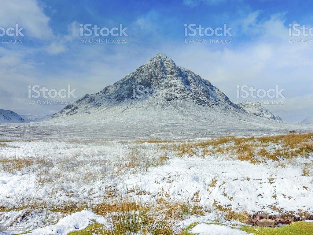 Scottish Highlands Scenic at Buachaille Etive Mor, Glencoe, Scot stock photo