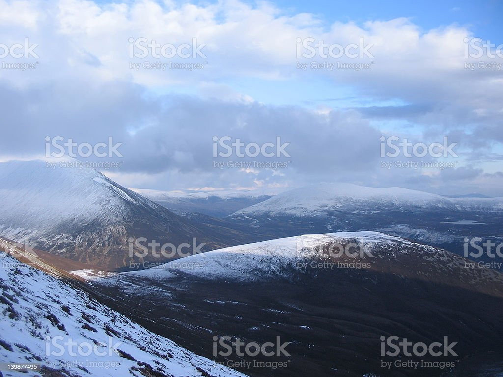 Scottish Highlands view stock photo