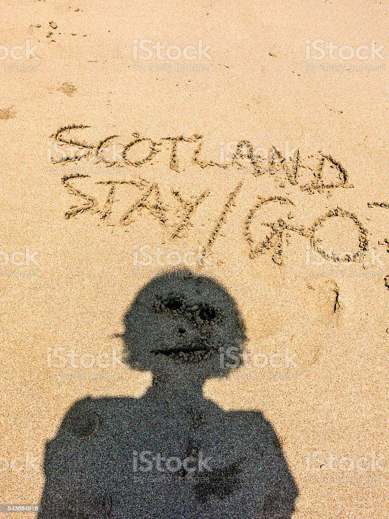 Scottish Independence European Referendum Brexit Person stock photo