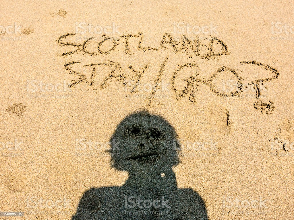 Scottish Independence Person after European Referendum Brexit stock photo