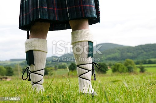 A Scotsman wearing a kilt, facing the hills of Perthshire.