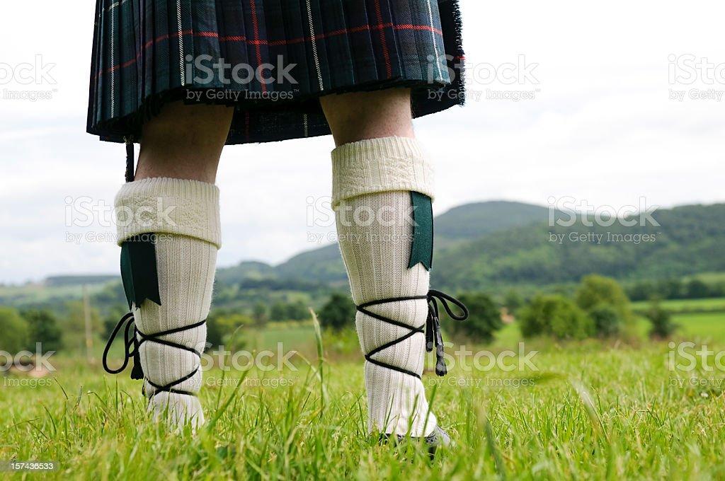 Scottish Kilt and Stockings stock photo