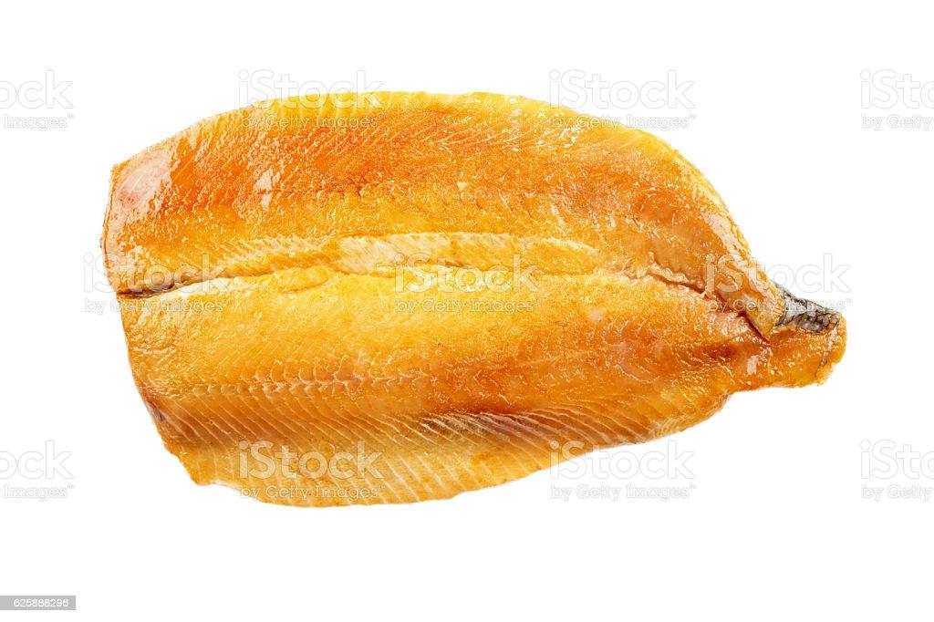 scottish kipper fillet, isolated on white stock photo