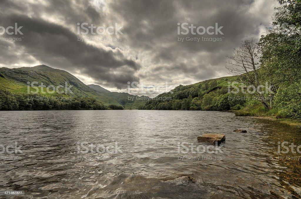 Scottish lake landscape at Loch Eil stock photo