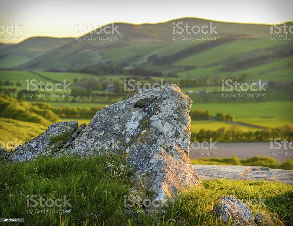 Scottish Landscape At Sunset stock photo