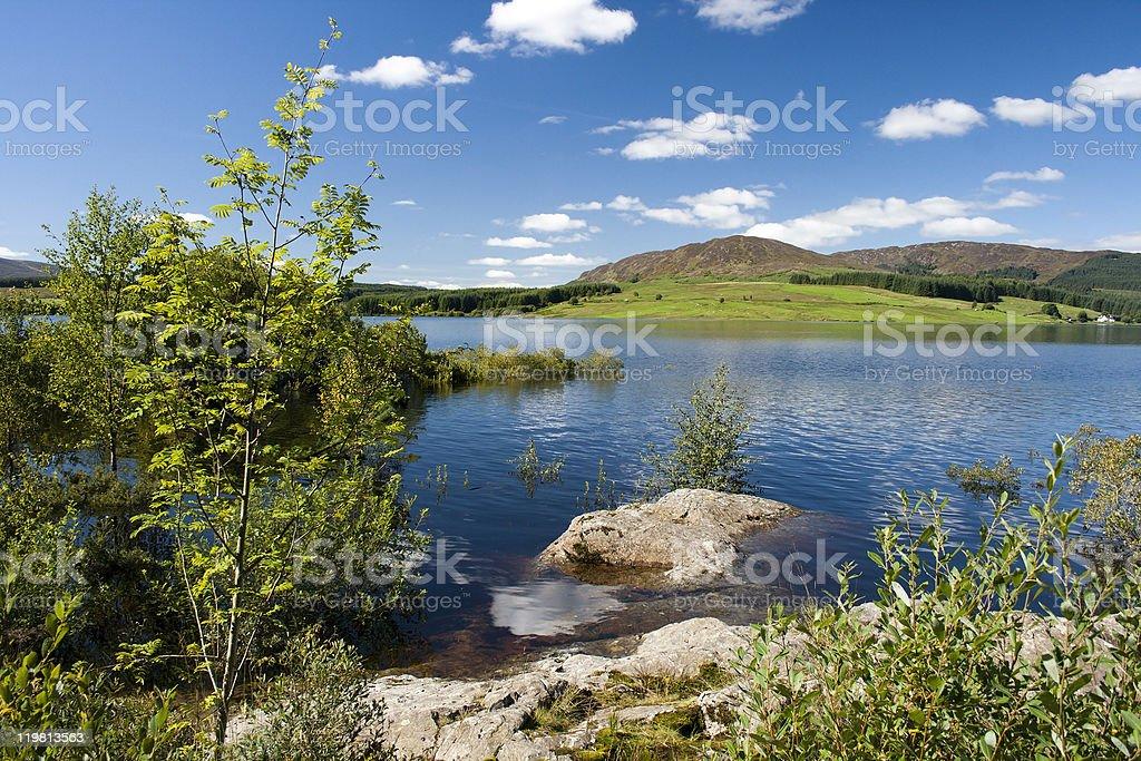 Scottish Loch and Mountain - Clatteringshaws stock photo