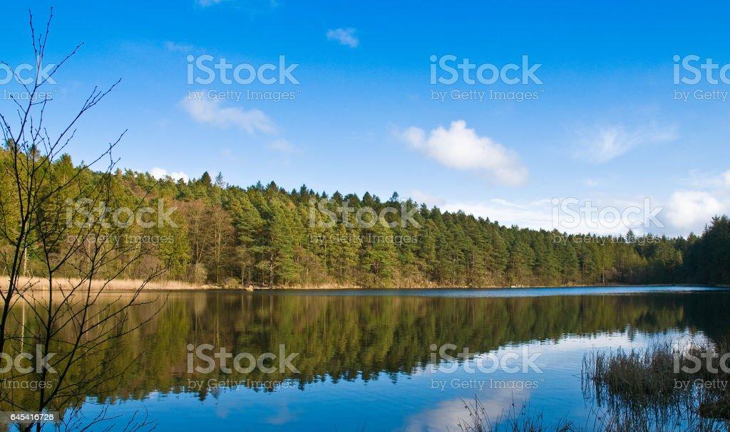 Scottish Loch, Kippford stock photo