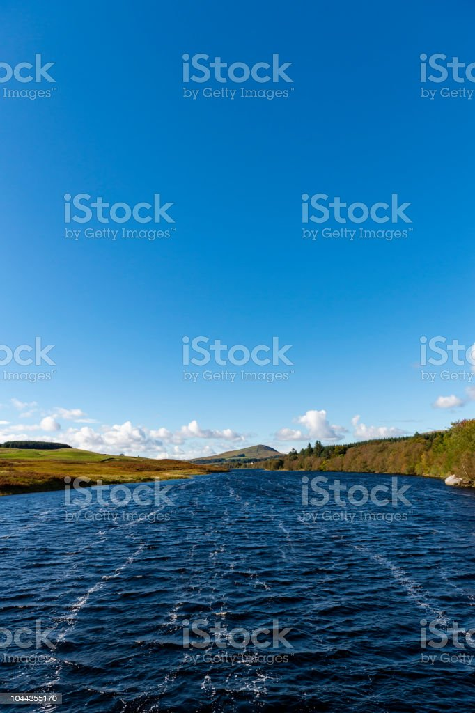 Scottish loch on a bright afternoon stock photo